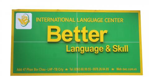 trung tâm ngoai ngữ thái bình Better English