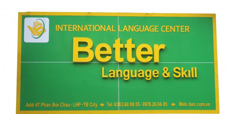 Trung tâm ngoại ngữ thái bình Better English