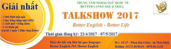 "Cuộc thi ""TALKSHOW – BETTER ENGLISH! BETTER LIFE"""
