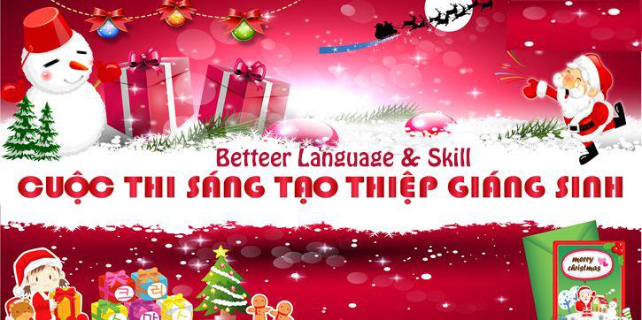 """Cuộc thi """"Sáng tạo thiệp Giáng Sinh"""" Better English"""