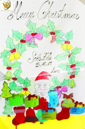 Thiệp giáng sinh được BGK bình chọn đẹp nhất.