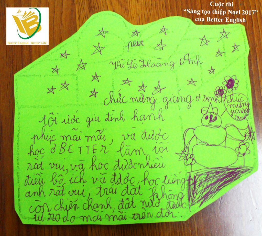 Lá thư được BGK bình chọn đáng yêu  nhất.