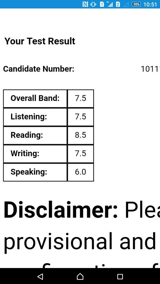 Học viên Phí Hoàng Long đạt IELTS 7.5