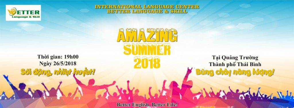 AMAZING SUMMER 2018 – Better English