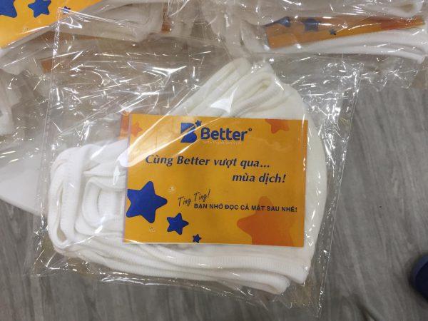 Better tặng hàng ngàn chiếc khẩu trang vải kháng khuẩn